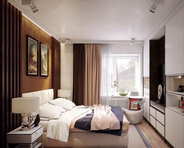 дизайн небольшой спальни в квартире фото 6