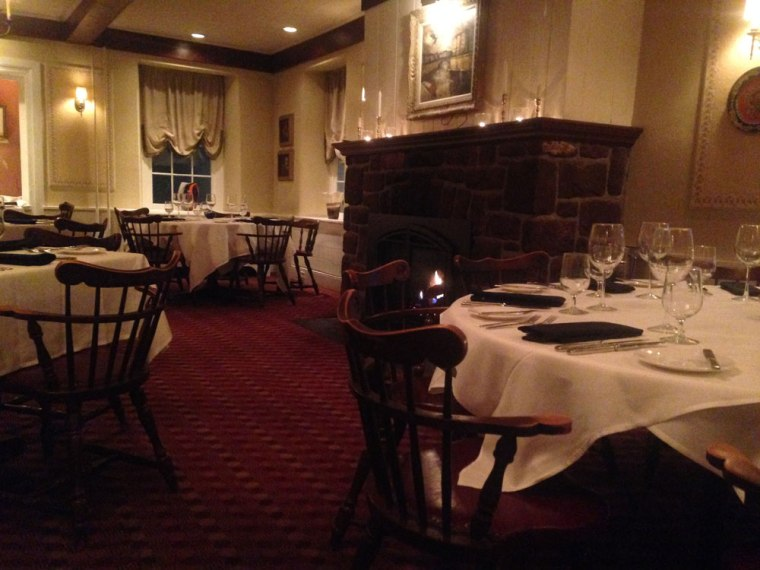 The historic dining room of the Green Hills Inn, now Dans at Green Hills