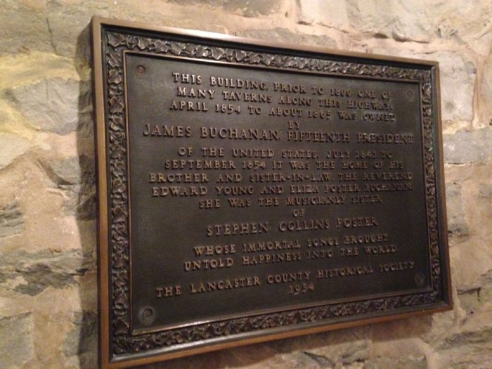 Historic Revere Tavern in Paradise was once owned by President James Buchanan.