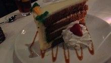 Carrot cake for dessert.