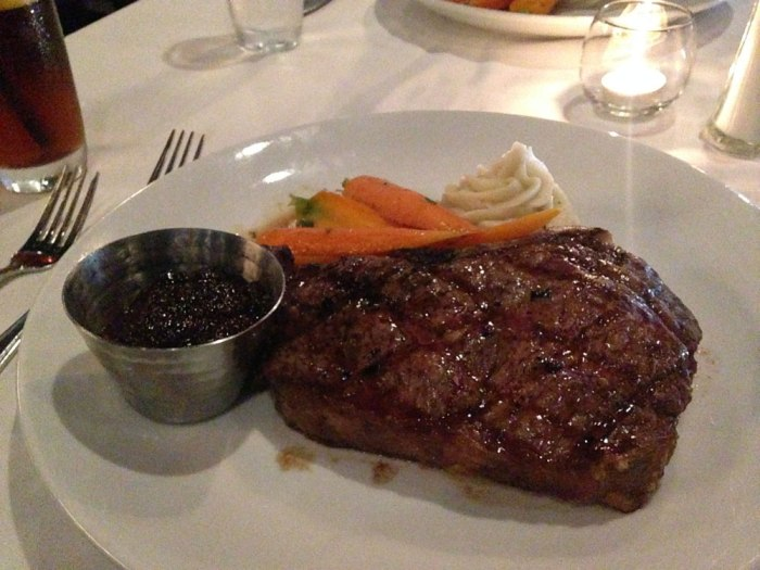 The 20-ounce dry-aged ribeye at Willoughby's on Park
