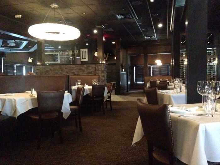The remodeled dining room at Willoughby's on Park