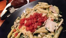 chicken florentine pasta from Austin's