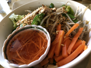Chicken and Vegetable Vermicelli Bowl - Lang Restaurant