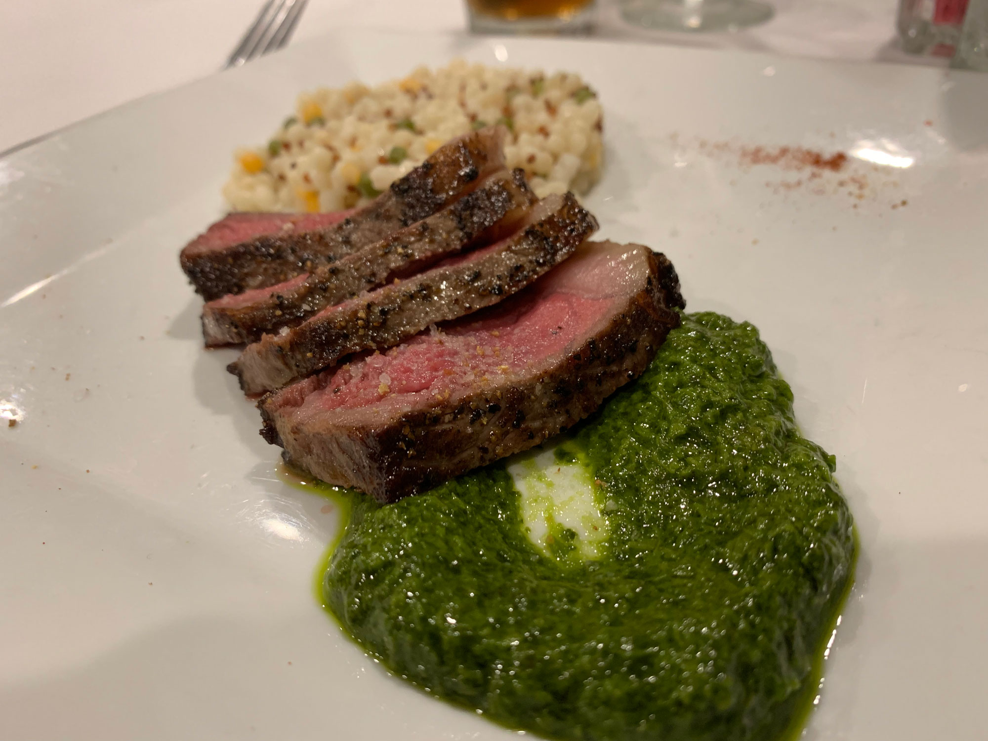 Wagyu Steak with chimichurri sauce