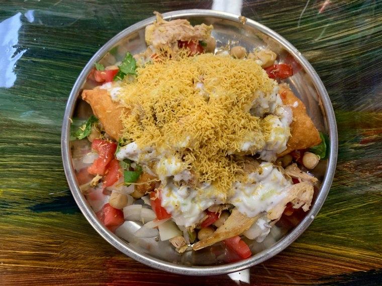 Rangoli Indian Street Food Exploding Samosa