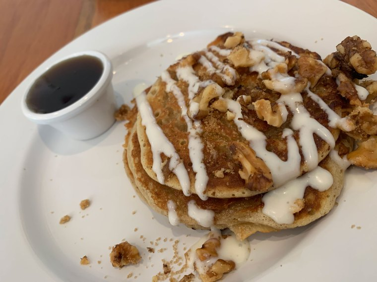 Cinnamon Roll Pancakes from Wild Sage Coffee and Kitchen