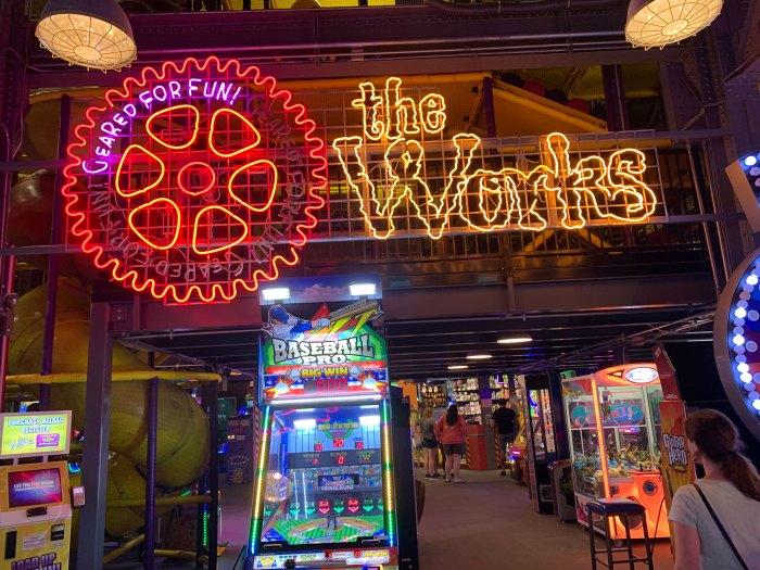 The Works at Wyomissing isn't just a restaurant, it's an entertainment destination that also includes a ball pit, go-karts, trampoline park and arcade (pictured).