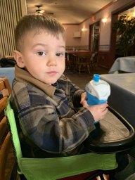 Jakob at Breakfast