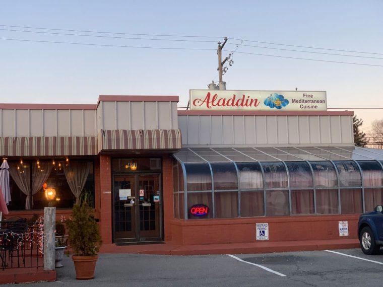 An exterior view of Aladdin Mediterranean Restaurant