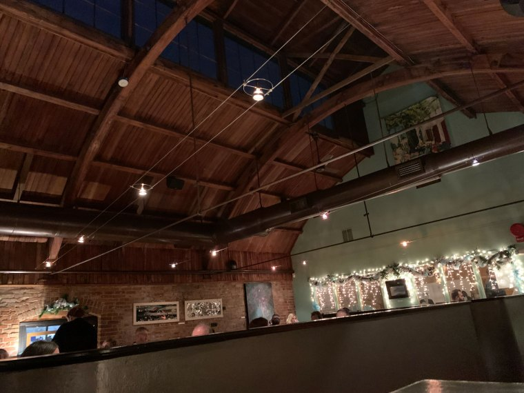A look at the vaulted wood ceilings inside Judy's on Cherry