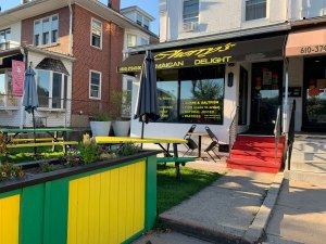 A look at the exterior of Cherry's Jamaican Delight in West Reading