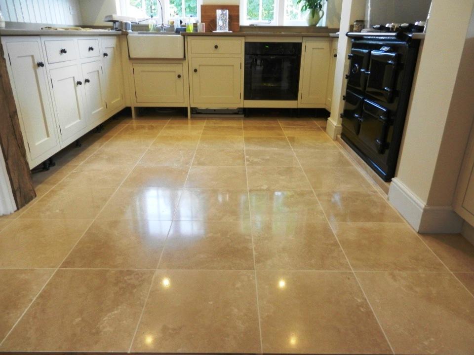 travertine floor repolished stone