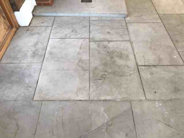 Dirty Sandstone Floor Before Cleaning Crowthorne Barn Conversion