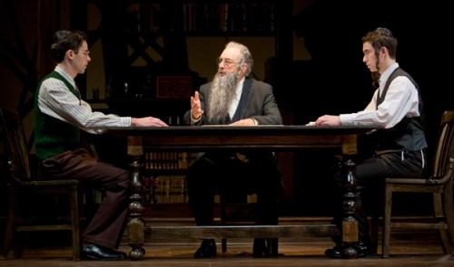 Jeff Cuttler, Richard Schiff and Ben Rosenbach. Photo by Scott Barrow.