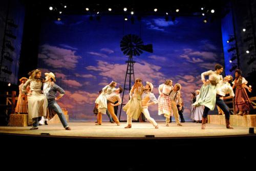 The Cast of Oklahoma! Photo by Abby LePage