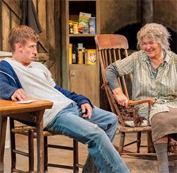 Edmund DOnovan as Ray Dooley and Tina Packer.
