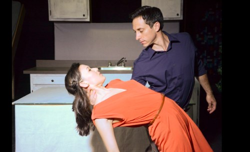Emily Gardner Hall and Jason Babinsky in Stageworks/Hudson's 2013 production of STOCKHOLM. Photo: Rob Shannon.