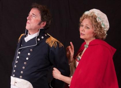 Philip Hart Helzzer as Captain Corcoran and Kathy Blaisdell as Mrs.Cripps (Buttercup)