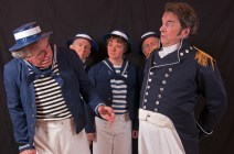Michael Budnick as Dick Deadeye, Dennis Gordan as the Carpenter's mate, Steven Willliams as Ralph Rickstraw, Jeff Erb as the Boatswain's Mate. and Philip Hart Helzzer as Captain Corcoran