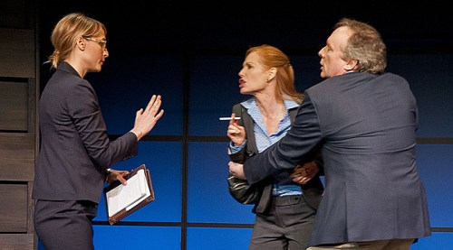 (l to r) Katya Campbell, Marg Helgenberger and Brent Langdon in The Other Place at Barrington Stage Company. Photo by Kevin Sprague