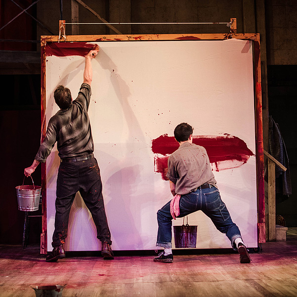 """""""Red"""" at the Dorset Theatre Festival starring Tim Daly and Charles Socarides. Photos by Taylor Crichton."""