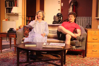 """Janis Young and Andrew Krug in """"4,000 Miles"""" at Oldcastle Theatre Co in Bennington, VT."""