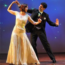 """Paige Davis (l) and John Cariani (r) in """"Dancing Lessons. Photo by Kevin Sprague"""