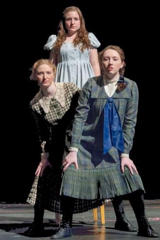(L to R) Amelia Morgan (Anna), Katie Pedro (Wendla), and Kelci Loring (Thea).
