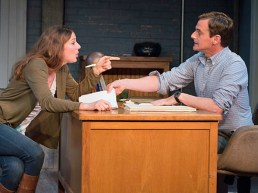 L to R: Deanna Gibson as Neasa and Mark H. Dold as Ian.
