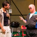 (l to r) Ian Lassiter as Antipholus of Ephesus and Michael F. Toomey as Angelo.