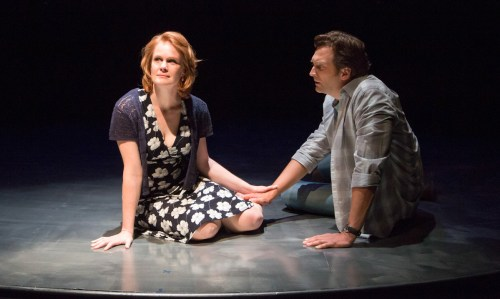 """Kate Baldwin and Graham Rowat in """"Constellations,"""" BTG, 2016. Photos by Emma Rothenberg-Ware."""