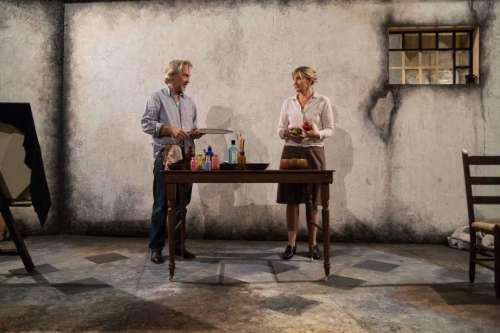 David Adkins and Corinna May in WAM Theatre's Bakelite Masterpiece. Photo by Emma K. Rothenberg-Ware.