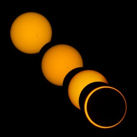 Partial and annular phases of solar eclipse on May 20, 2012, photo by Brocken Inaglory.