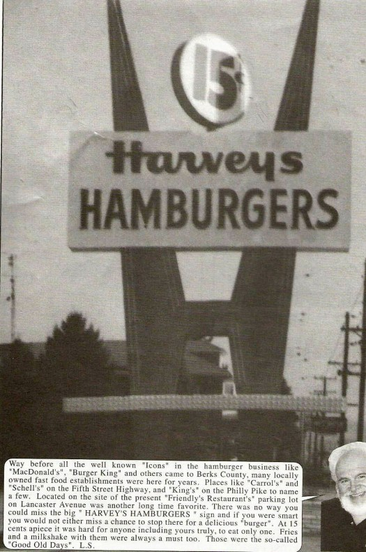 Harvey's Hamburgers - Lancaster Ave