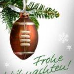 Frohe Weihnachten Tanne mit Footballanhänger