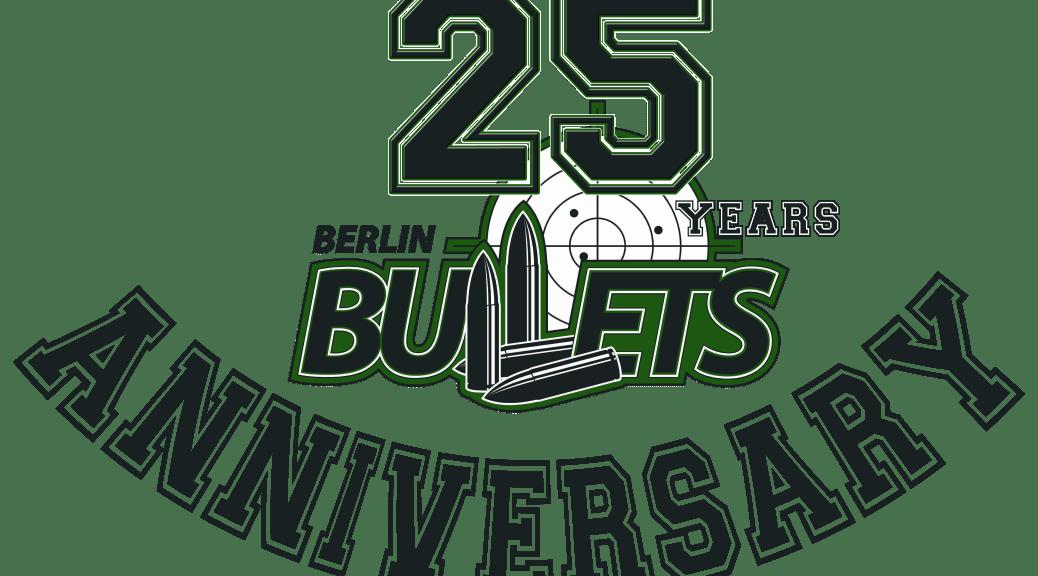 Logo 25 Jahre Berlin bullets