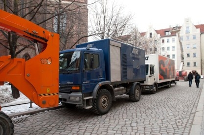 George Clooney Berlin Nikolaiviertel The Monuments Men
