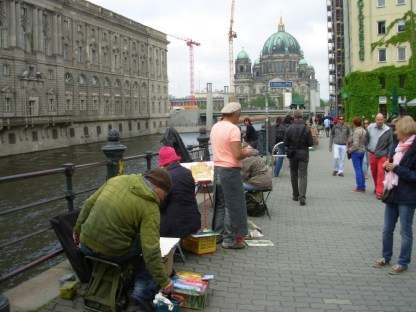 Künstler malen im Nikolaiviertel