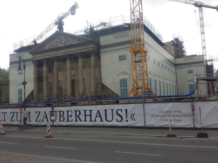 Staatsoper Unter den Linden stadig under restaurering. Foto: Kirsten Andersen