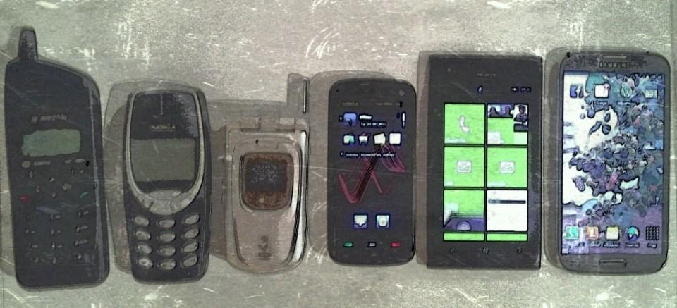 Mine mobiler gennem tiden, fotograferet med Samsung Tablet og redigeret med Paper Artist...