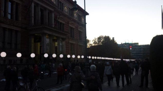 Lichtgrenze ved Gropius-Bau. Foto: Kirsten Andersen