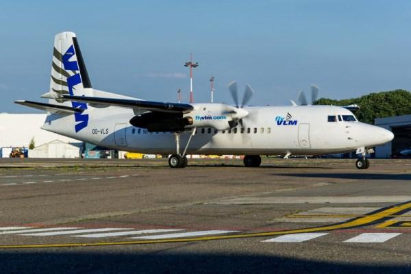 VLM Fokker 50 (© Hamburg Airport)