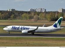 Air Explore Boeing 737-800 OM-GEX noch im Anstrich der Med-View Airlines
