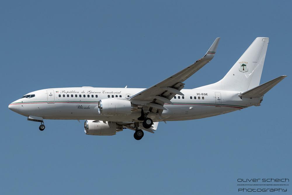 Ecuatorial Guinea Boeing 737-700(BBJ) 3C-EGE