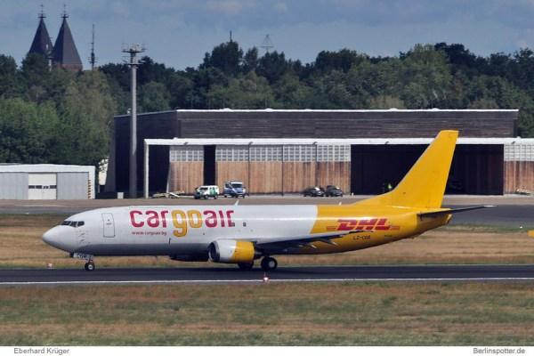Cargo Air Boeing 737-400(SF) LZ-CGR (Berlin TXL 17.8. 2016)