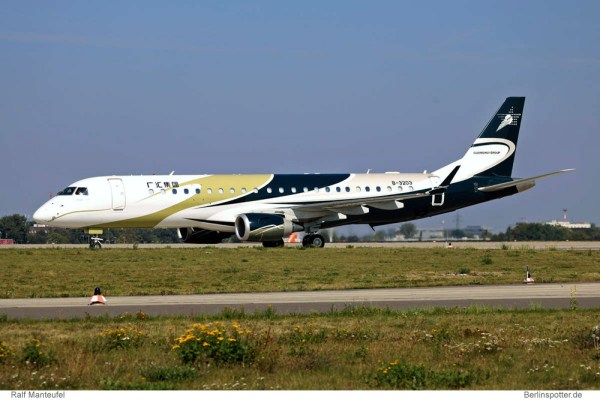 Guanghui Group Embraer Lineage 1000 B-3203 (SXF 8.9. 2016)