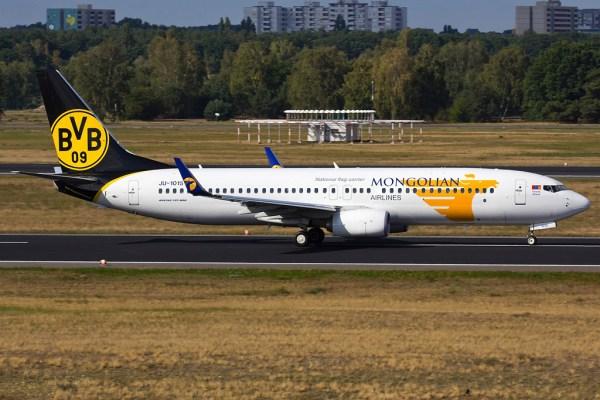 Mongolian Airlines Boeing 737-800(WL) JU-1015 (TXL 24.9. 2016)