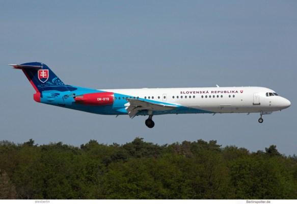 Slovak Gvmt., Fokker 100 OM-BYB (TXL 30.4.2019)