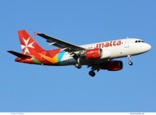 Air Malta Airbus A319-100 9H-AEM (TXL 20.11. 2016)